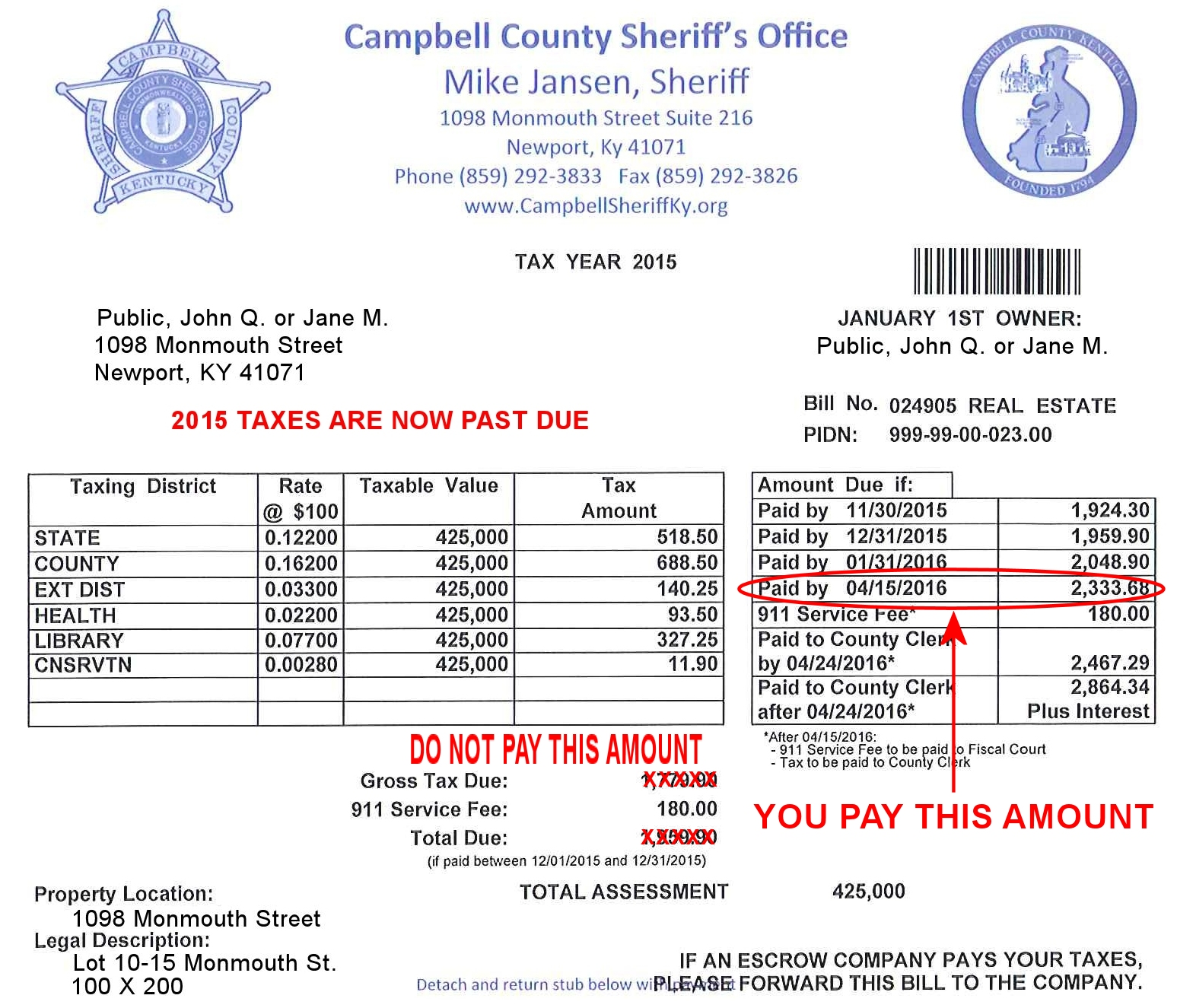 what do county taxes pay for