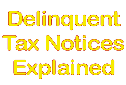 Delinquent Tax Notices Explained