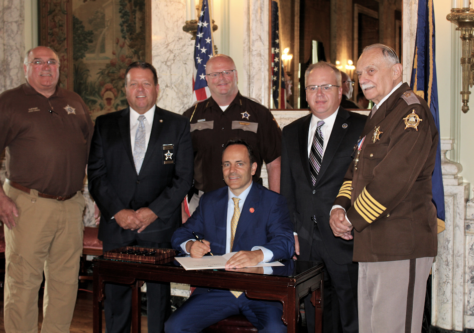 Signing of House Bill 26 with Governor Bevin